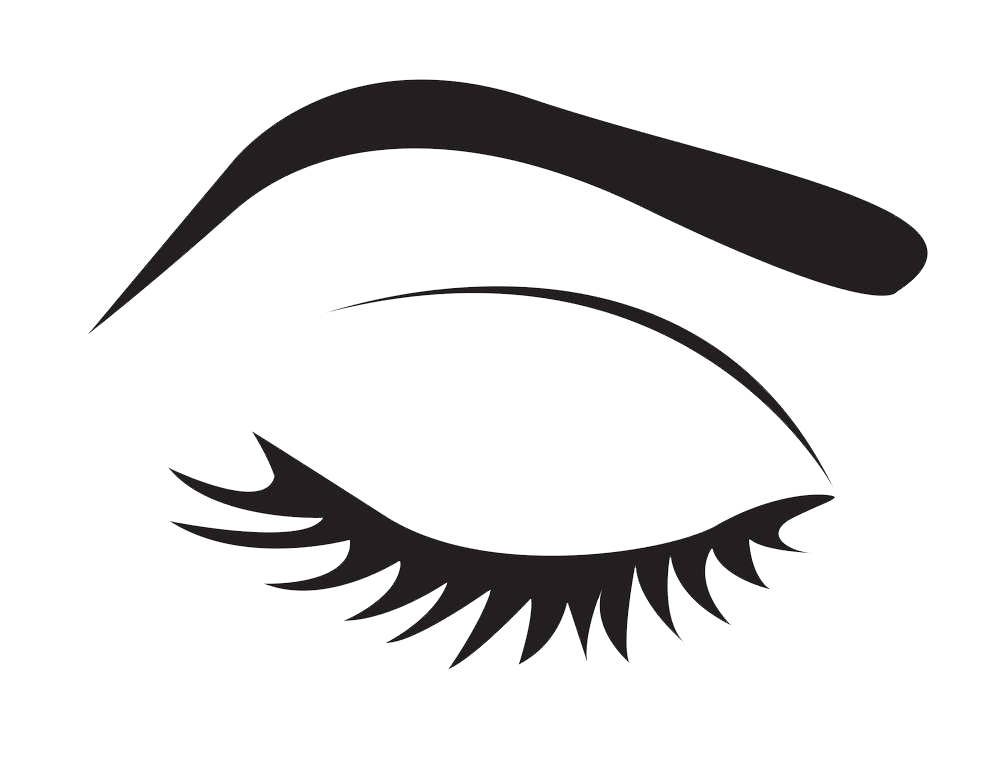 Eyelash extensions stock photography. Clipart eye line art