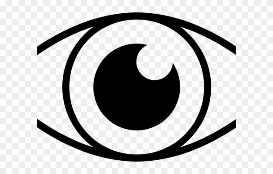Clipart eye line art. Eyeball simple png download