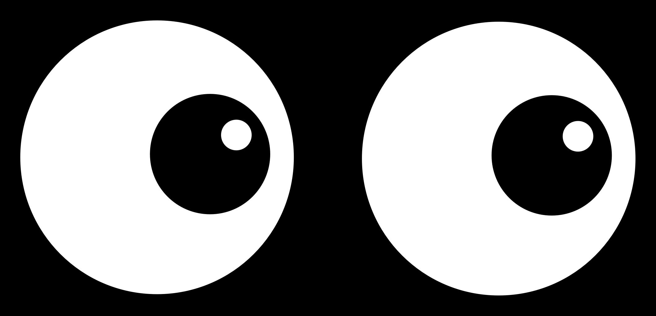 Clipart eye line art. Cartoon clip eyes transprent