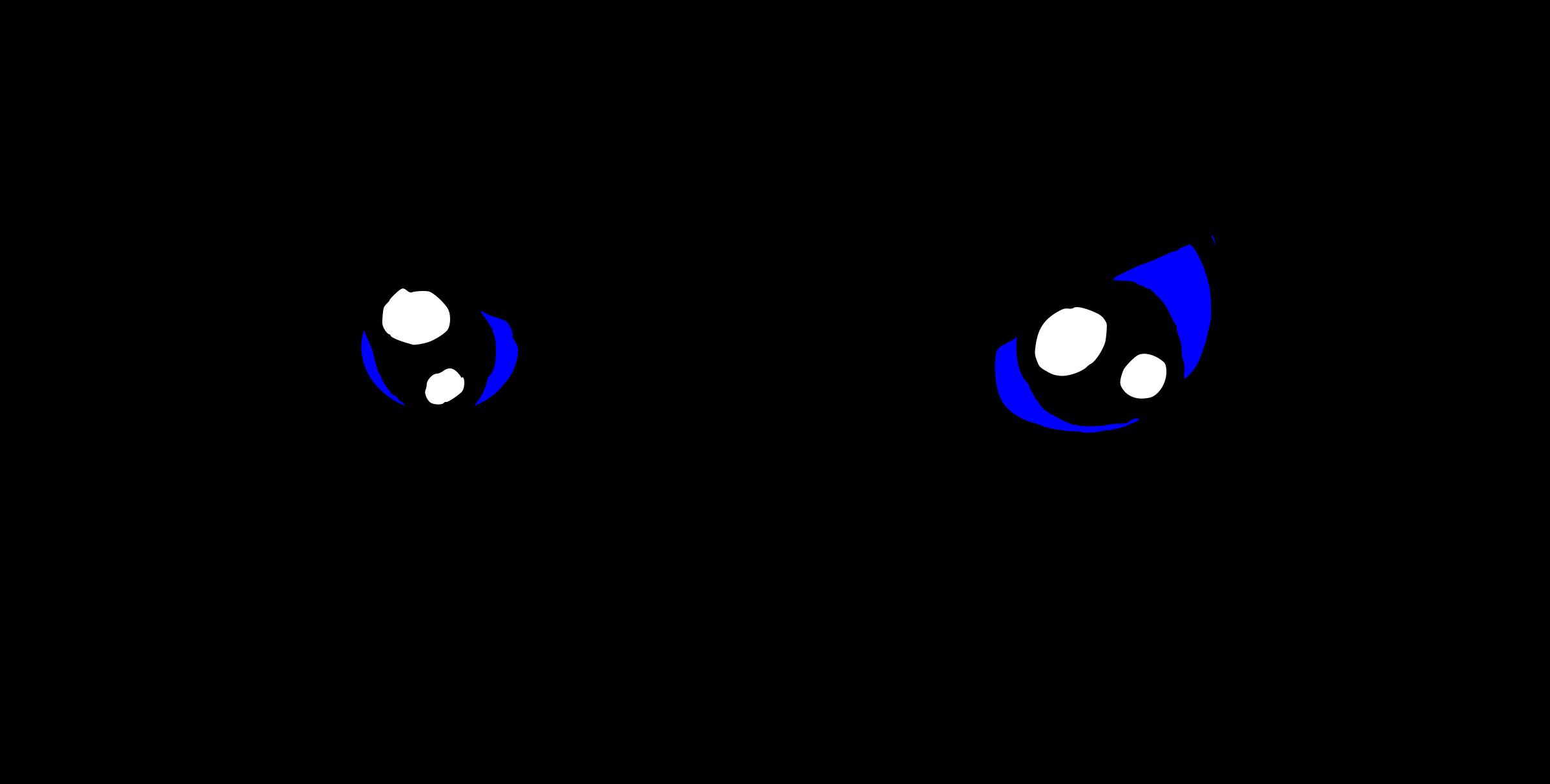 Clipart eye line art. Angry blue eyes big