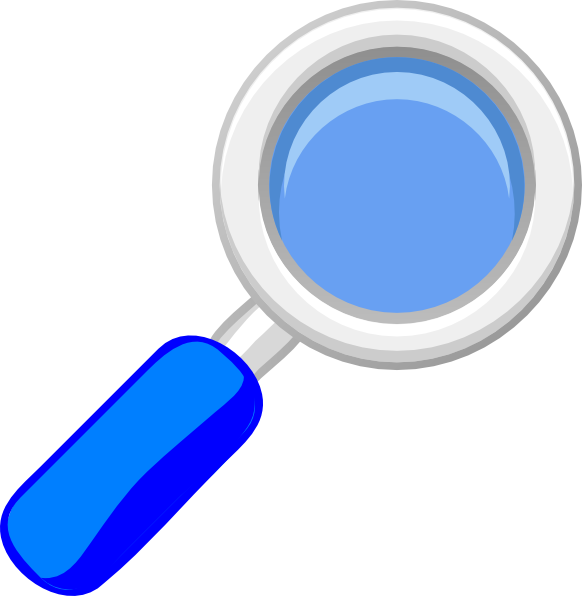 Clipart eye magnifying glass. Blue clip art at