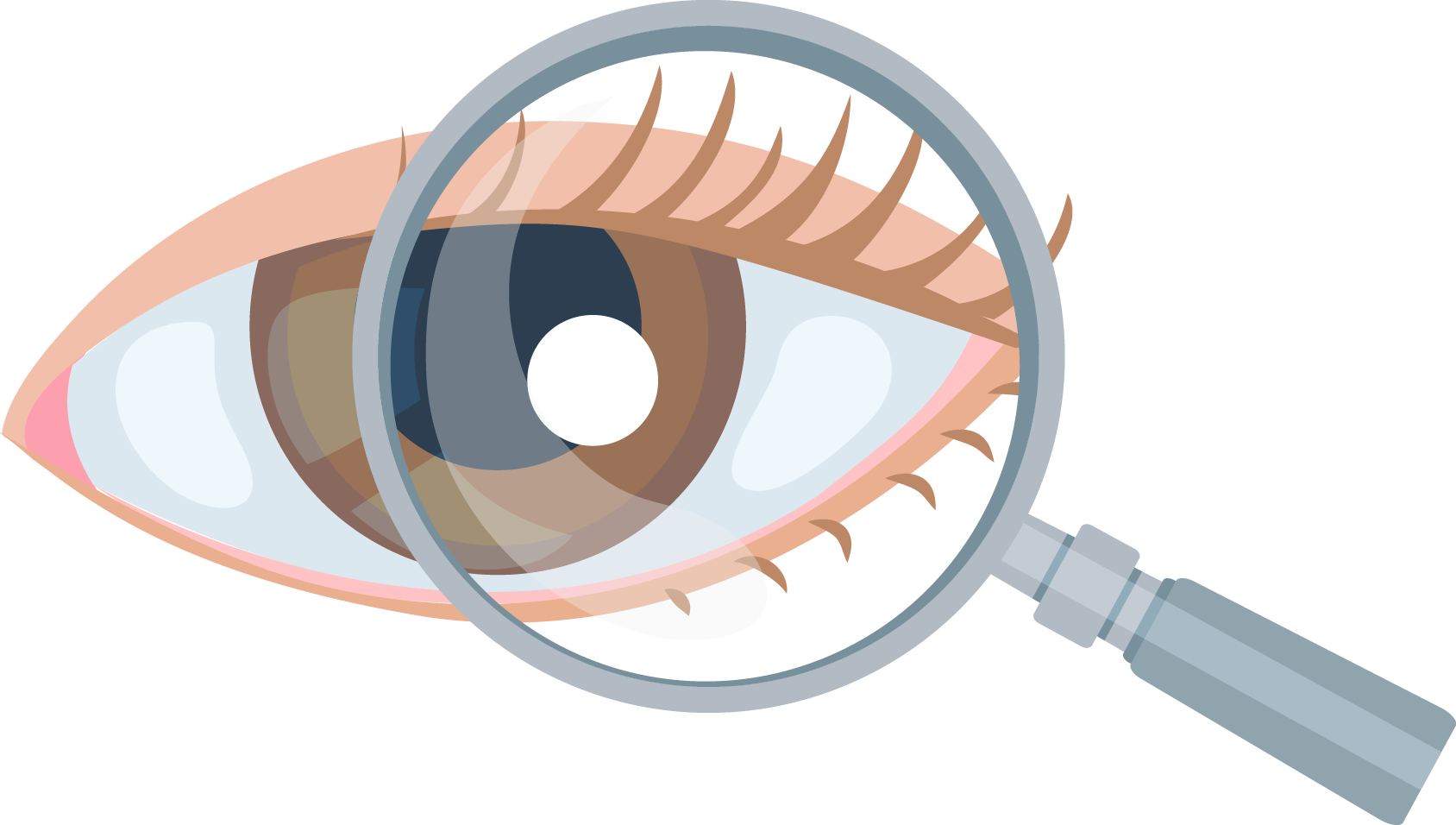 Clipart eye magnifying glass. Ophthalmology on glasses