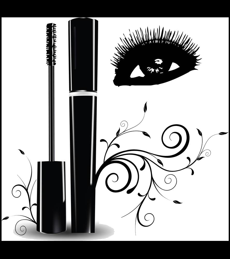 Eyelashes clipart winged eyeliner. Eyelash extensions brush clip