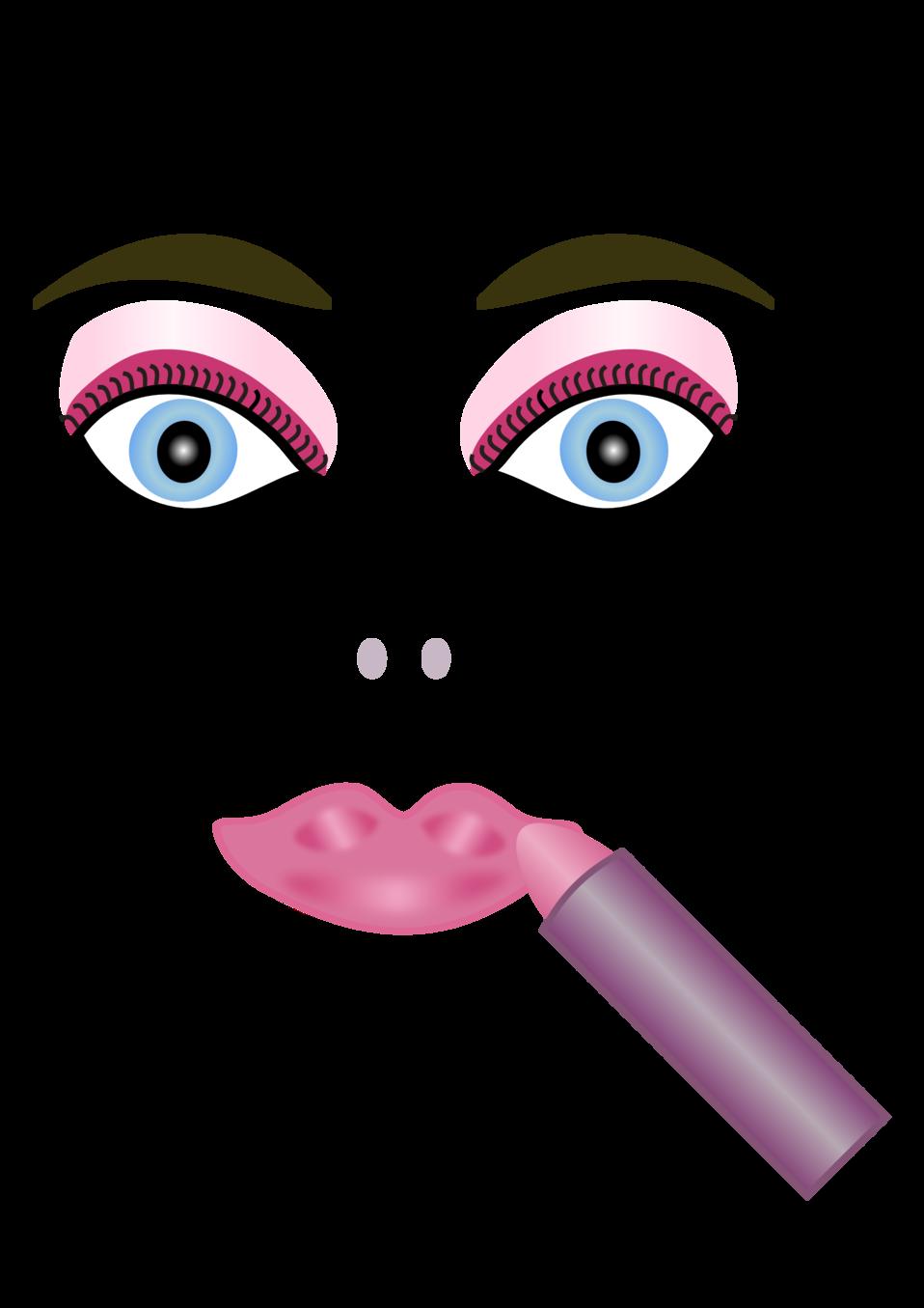 Public domain clip art. Lipstick clipart mascara