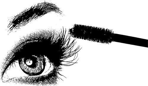 Pin by latanya gilbert. Eyes clipart mascara