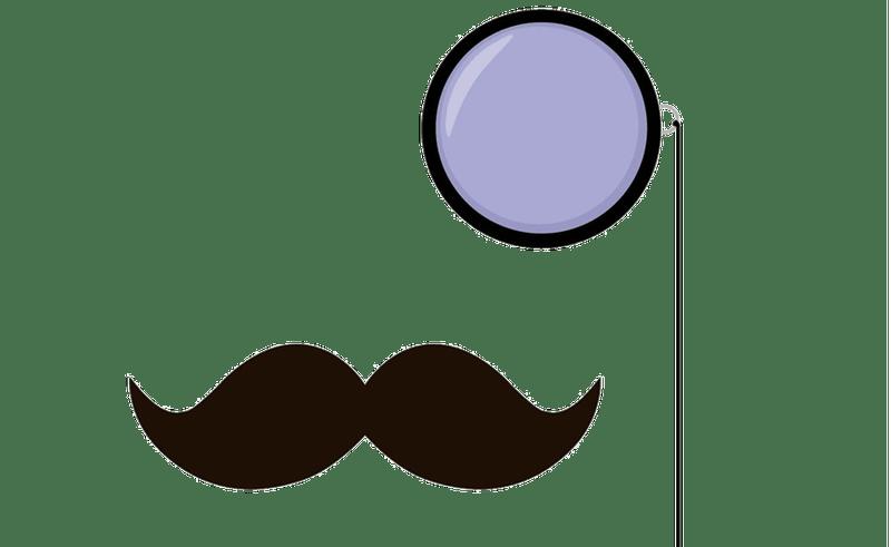 Mustache clip art monocle. Moustache clipart party
