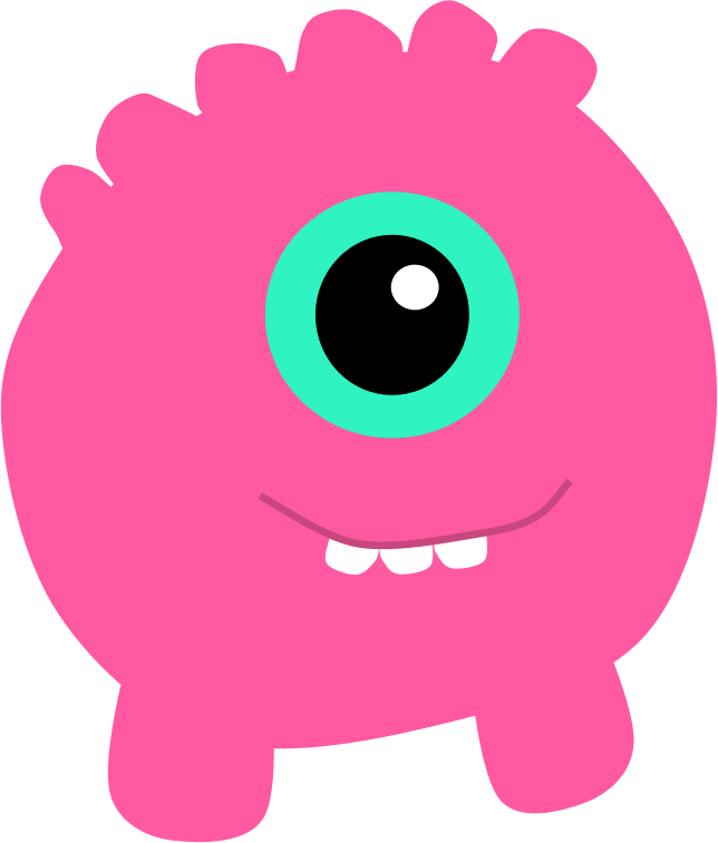 Eyes clipart lip. Pink monster medium image