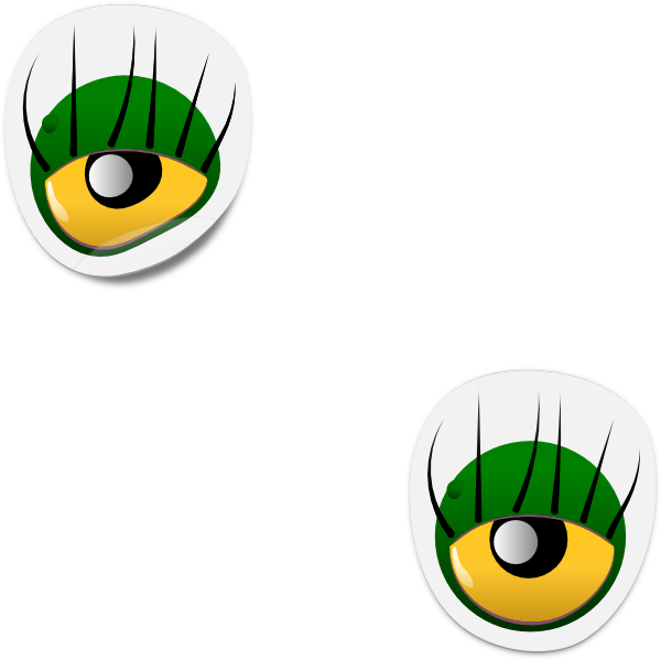 Monster clipart 3 eye. Dogface jim sticker clip
