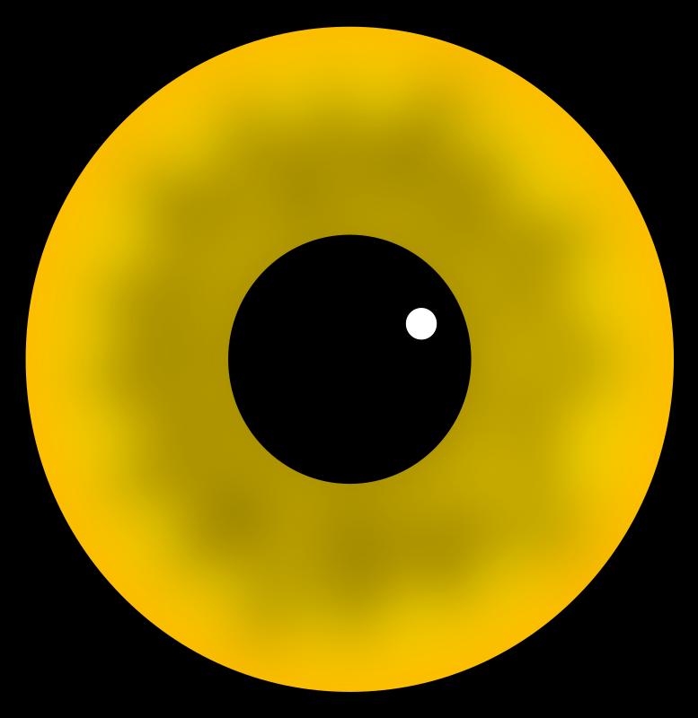 Eyeball clipart monster eyeball. Yellow eye medium image