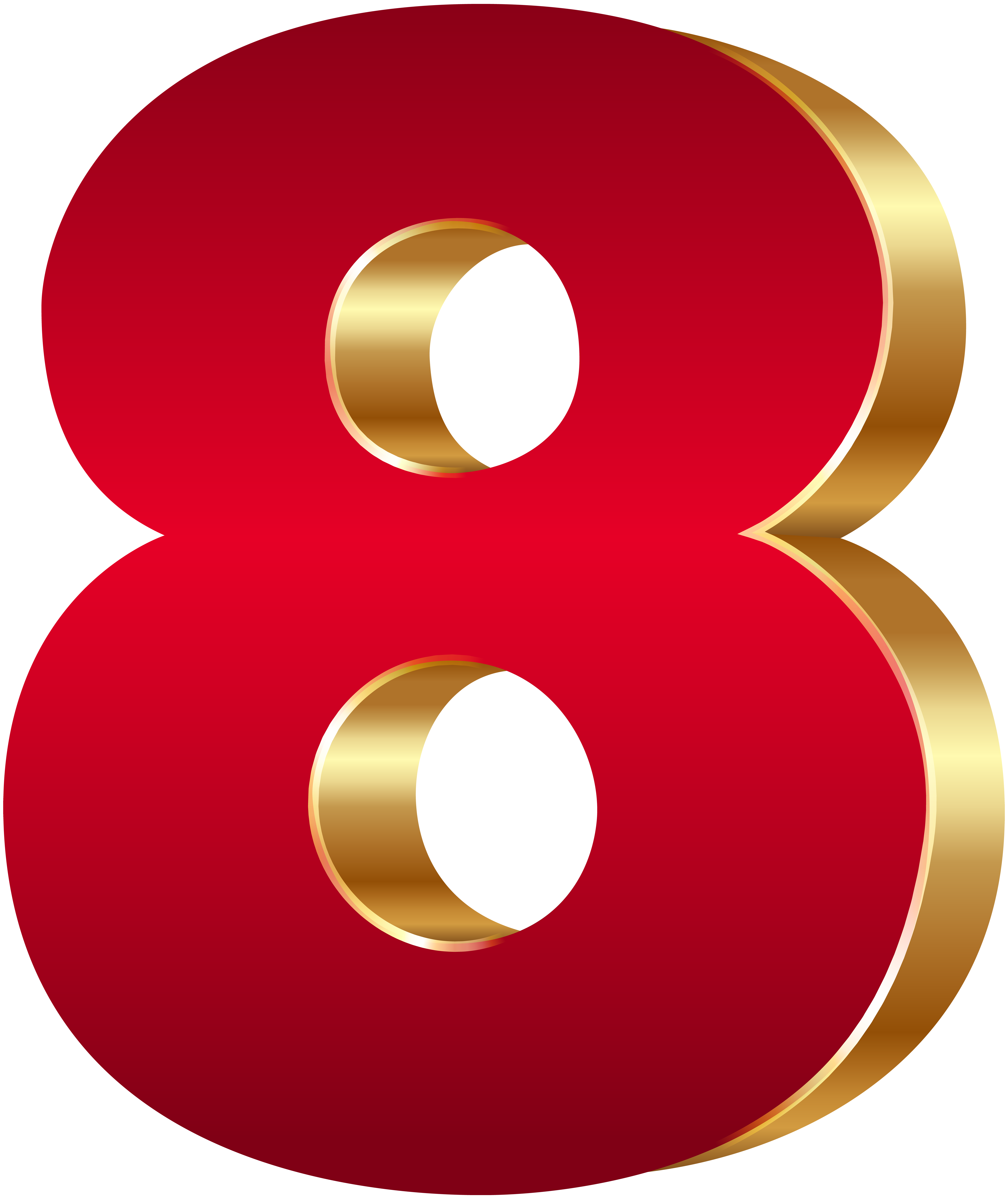 d number eight. Numbers clipart calligraphy