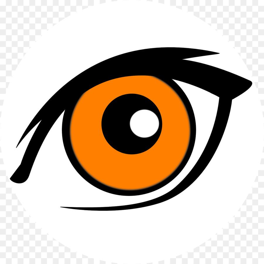 Eye logo yellow transparent. Eyes clipart orange