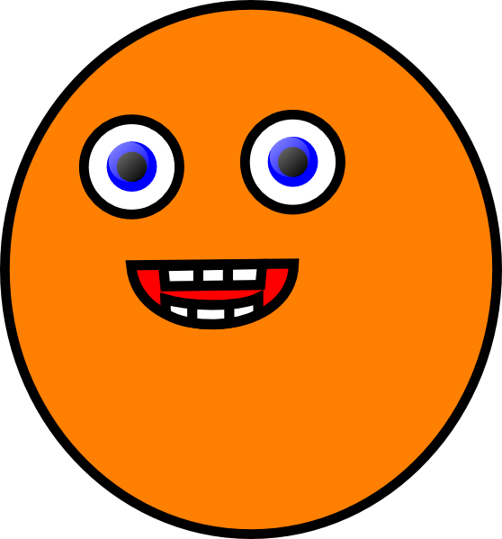 Orangeface clip art at. Clipart eye orange