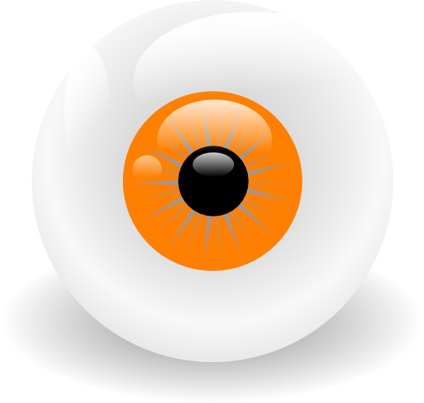 Ball clip art at. Clipart eye orange