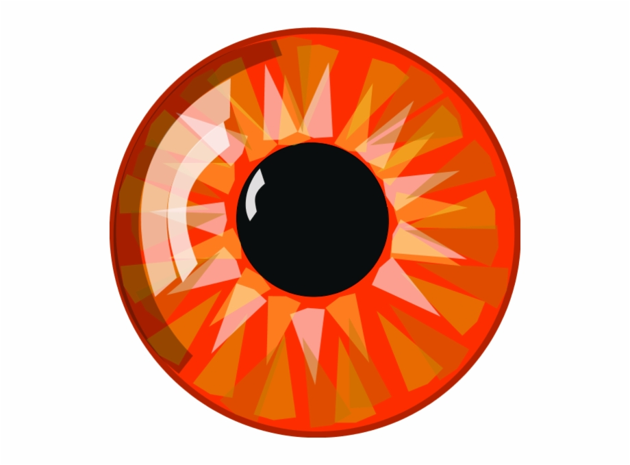 Red eyes transparent eyeballs. Clipart eye orange