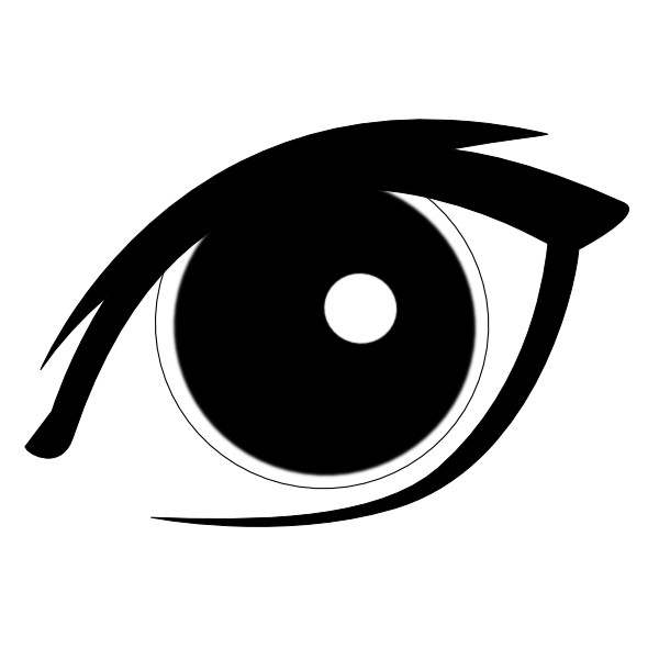 Clip art at clker. Number 1 clipart eye