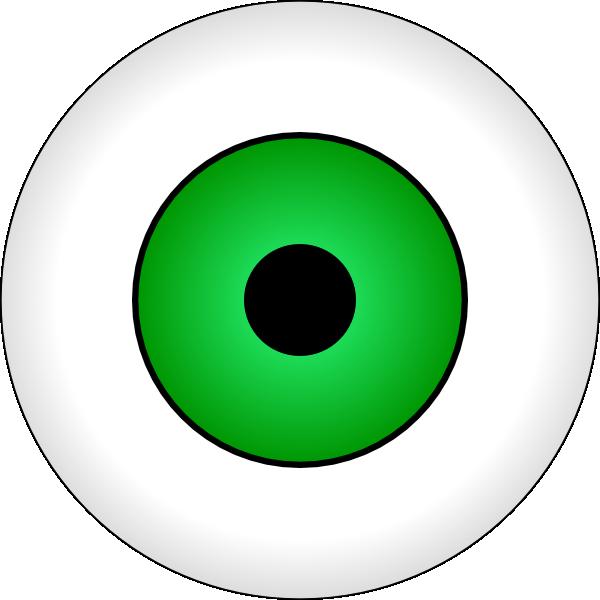 Zombie clipart eyes. Monster eyeball panda free