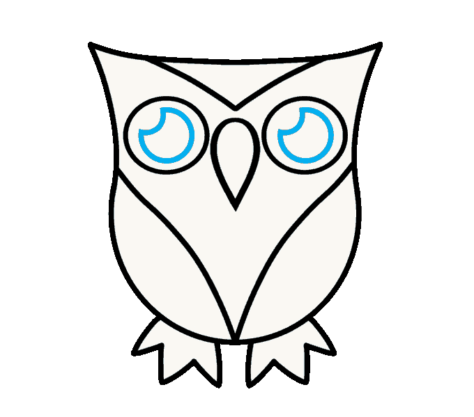 Ears clipart owl. How to draw a