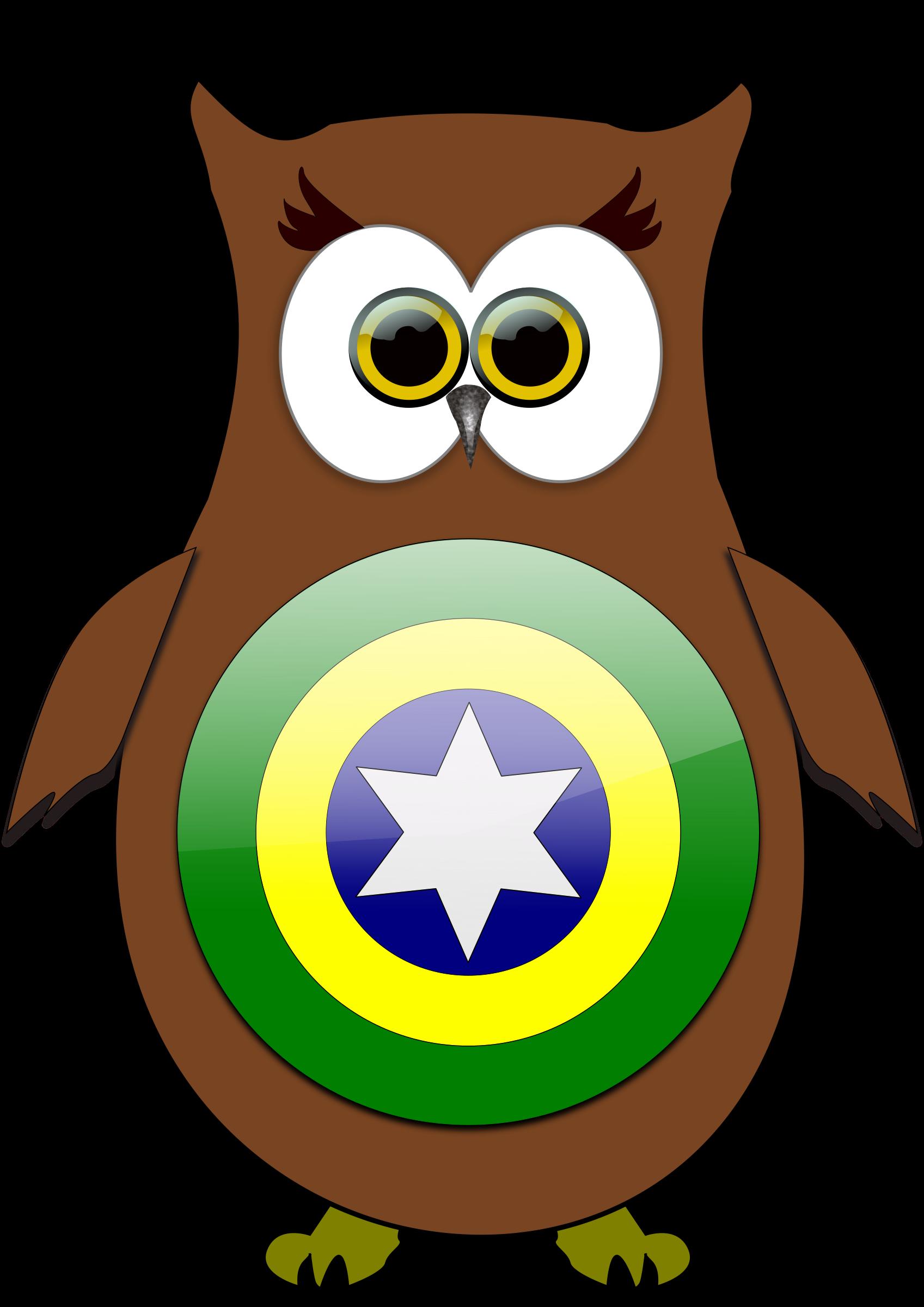 Brazil owl big image. Hero clipart animal