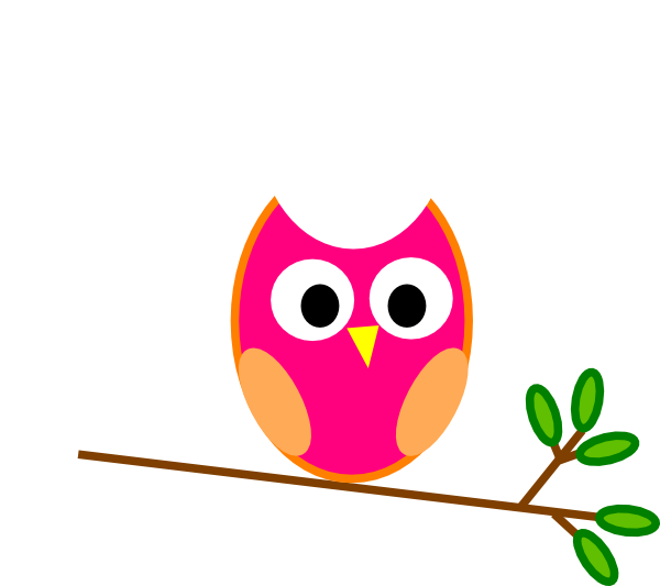 Pink Owl Clip Art at Clker