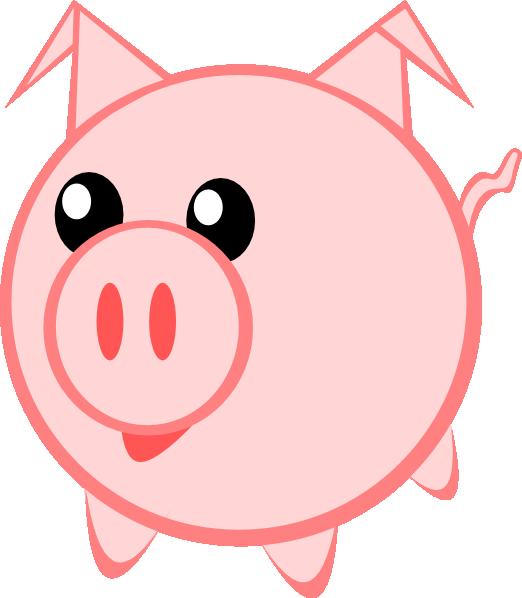 Clip art at clker. Eye clipart pig