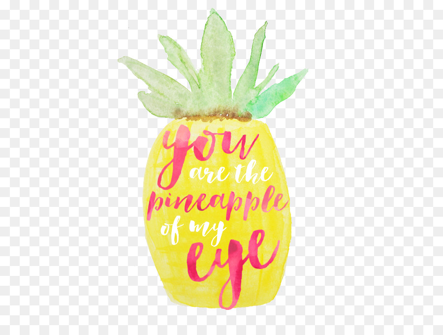 Cartoon fruit . Pineapple clipart eye