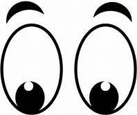 Large cartoon yahoo image. Eyes clipart printable