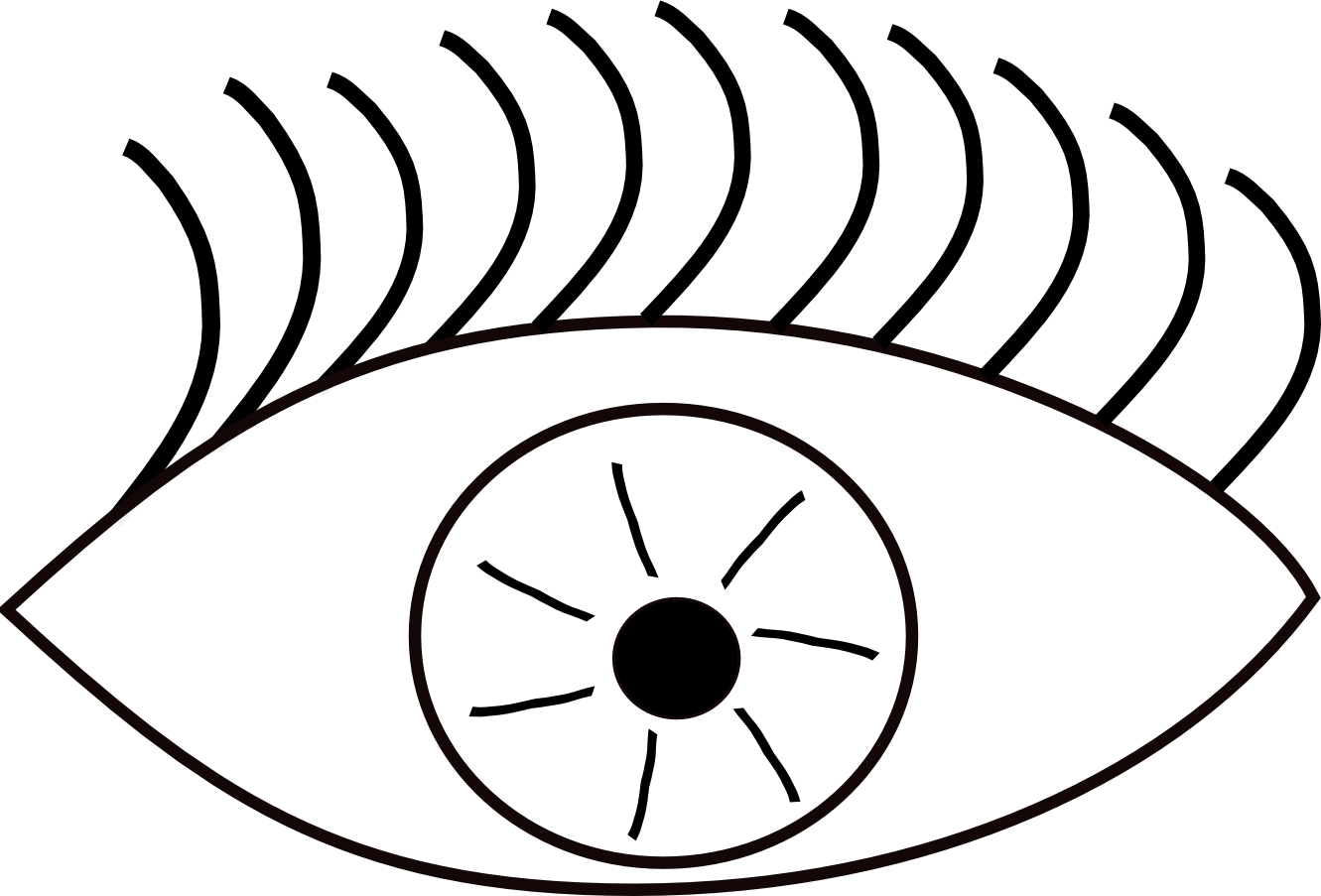 Free line art download. Picture clipart eye