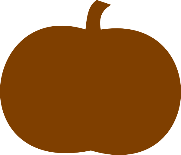 Clipart tree pumpkin. Dark orange clip art