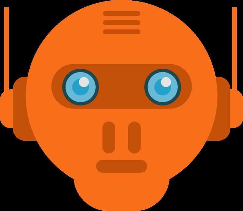 Clipart eye robot. Head medium image png