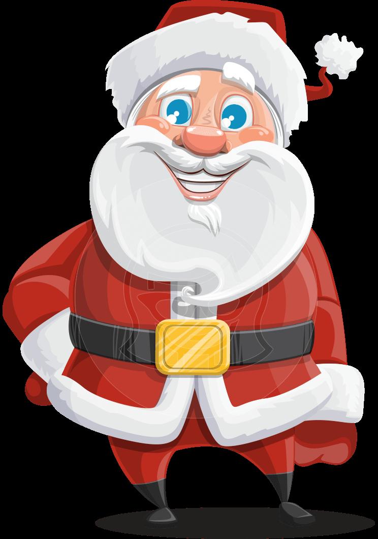 Eyes clipart santa claus. Vector cartoon character mr