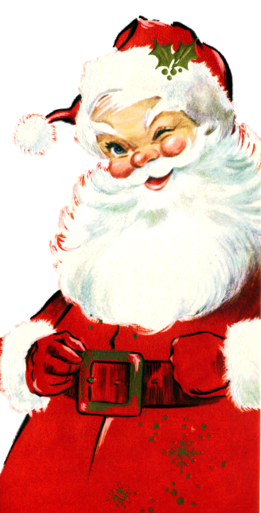 Vintage my favorite face. Santa clipart boxing