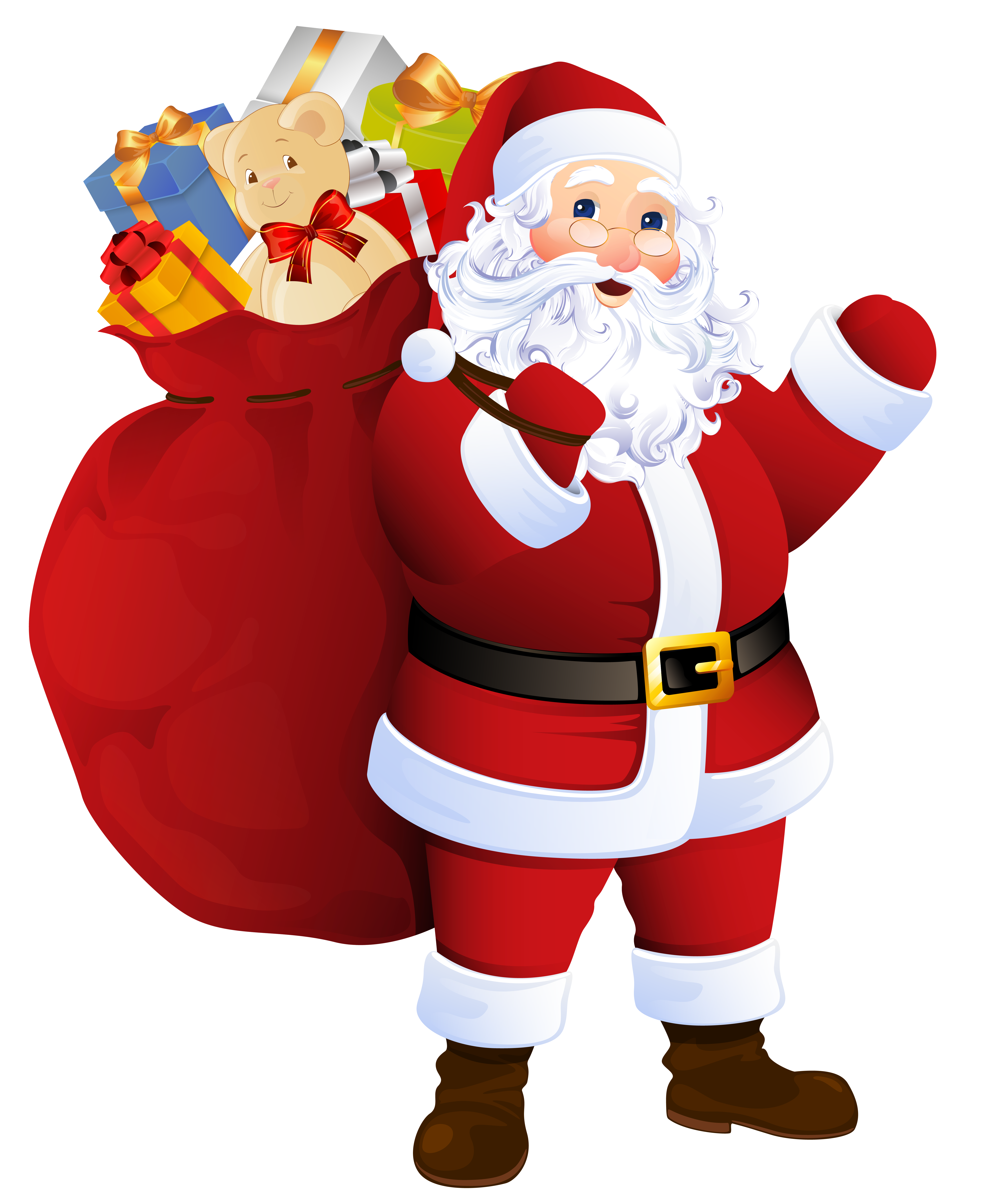 Transparent santa claus with. Office clipart hallway