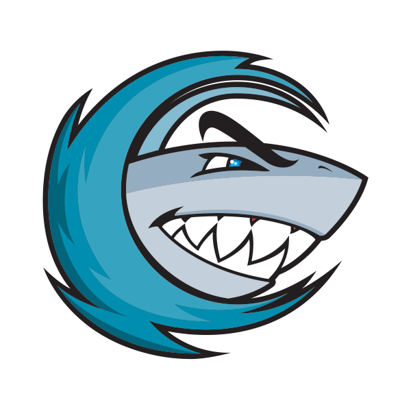 Waves clipart comic. Shark silhouette in wave