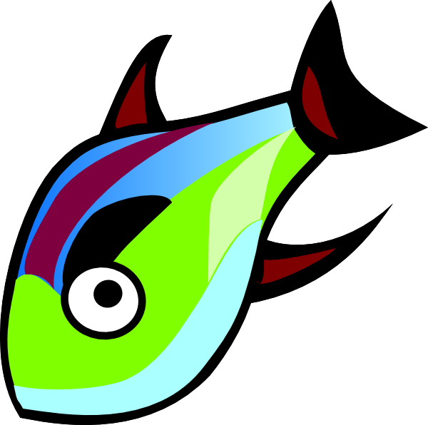 Clip art at clker. Clipart fish green