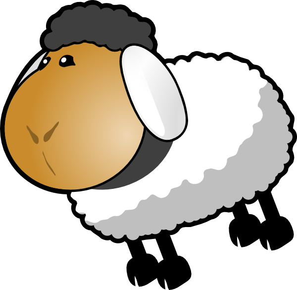 Dark grey hair clip. Home clipart sheep