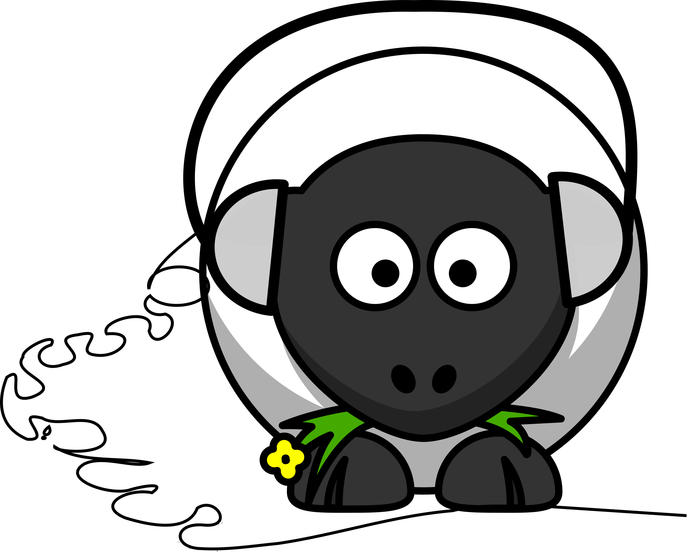 Headphones clipart face. Music sheep big image