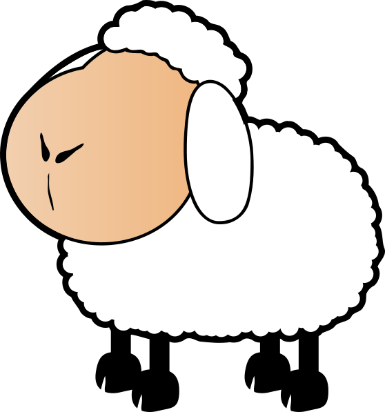 Sheep With A Colored Face Clip Art at Clker
