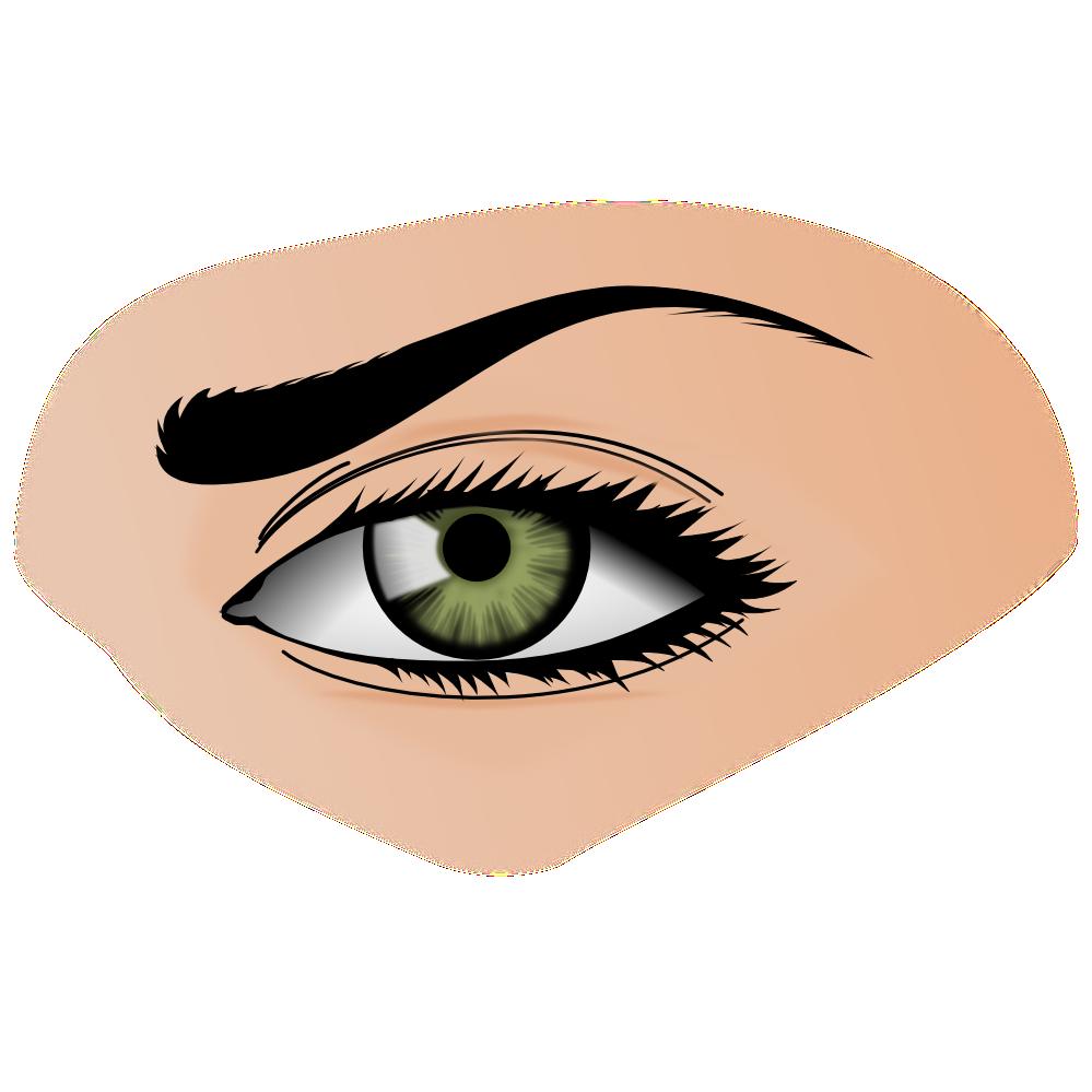 Eye clip art images. Lady clipart eyes