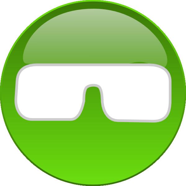 Medical eye button clip. Vision clipart vector