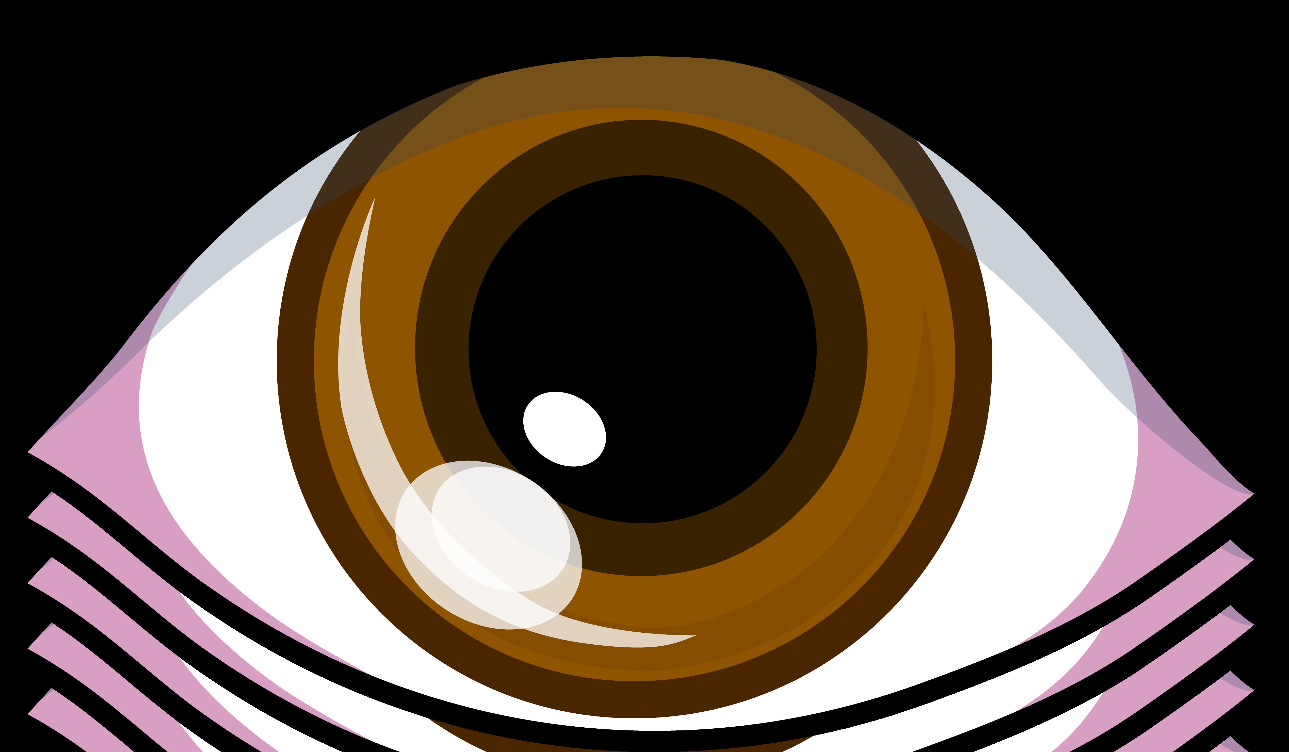 Clipart eyes bored. Brown eye drawing panda
