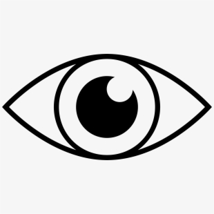 Eyes clipart black and white. Png eye line drawing