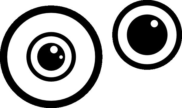 Eyes black and white. Eyeball clipart monster eyeball