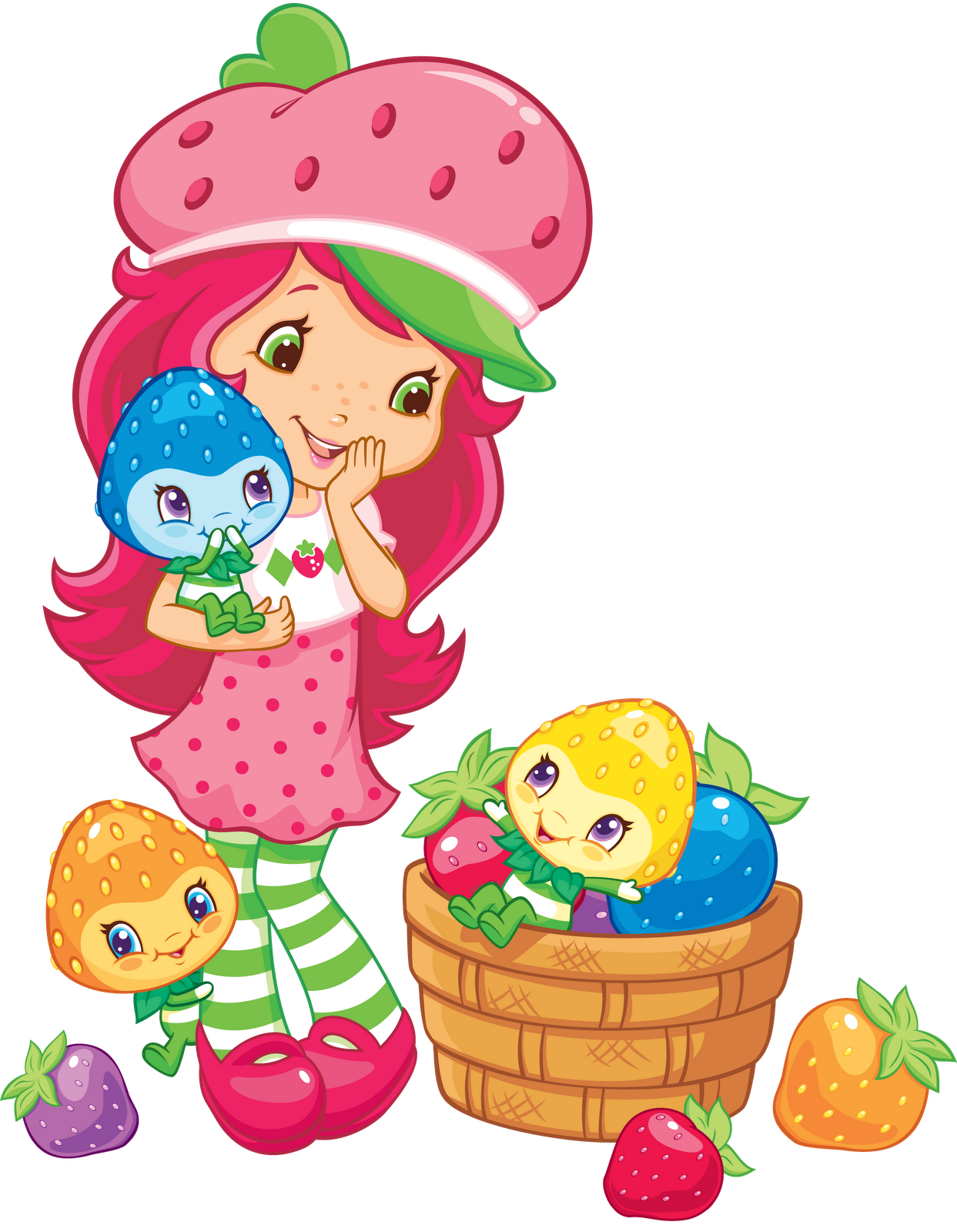 Shortcake and her friends. Muffin clipart strawberry muffin