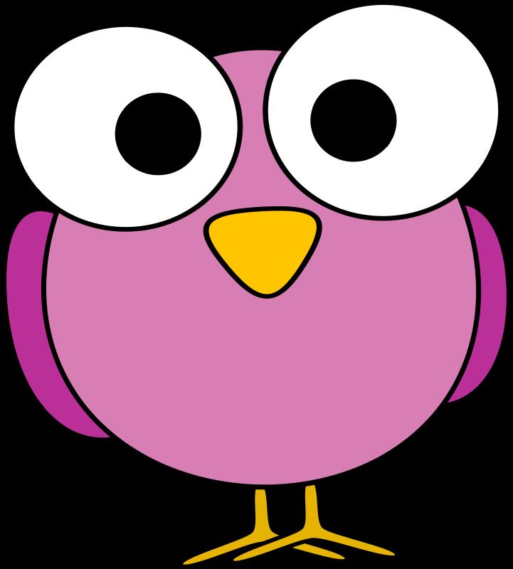 Pink googley bird by. Eye clipart teacher