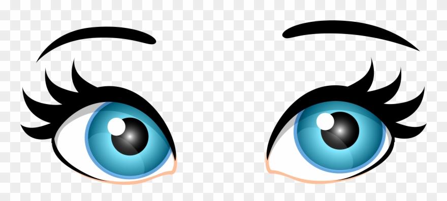 Blue female eyes png. Eyeballs clipart pretty eye
