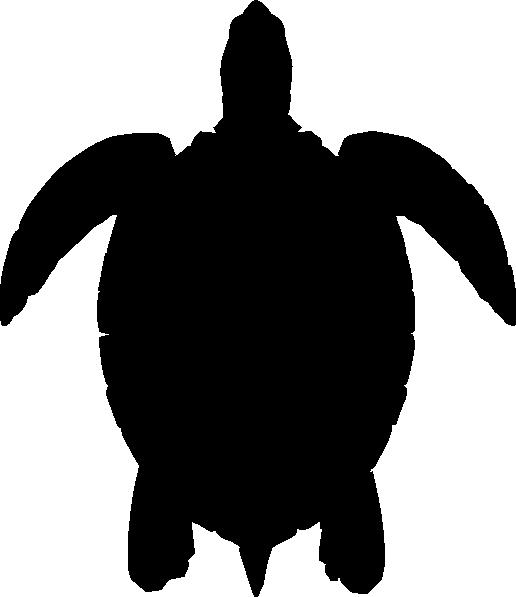 Sea panda free images. Clipart turtle silhouette