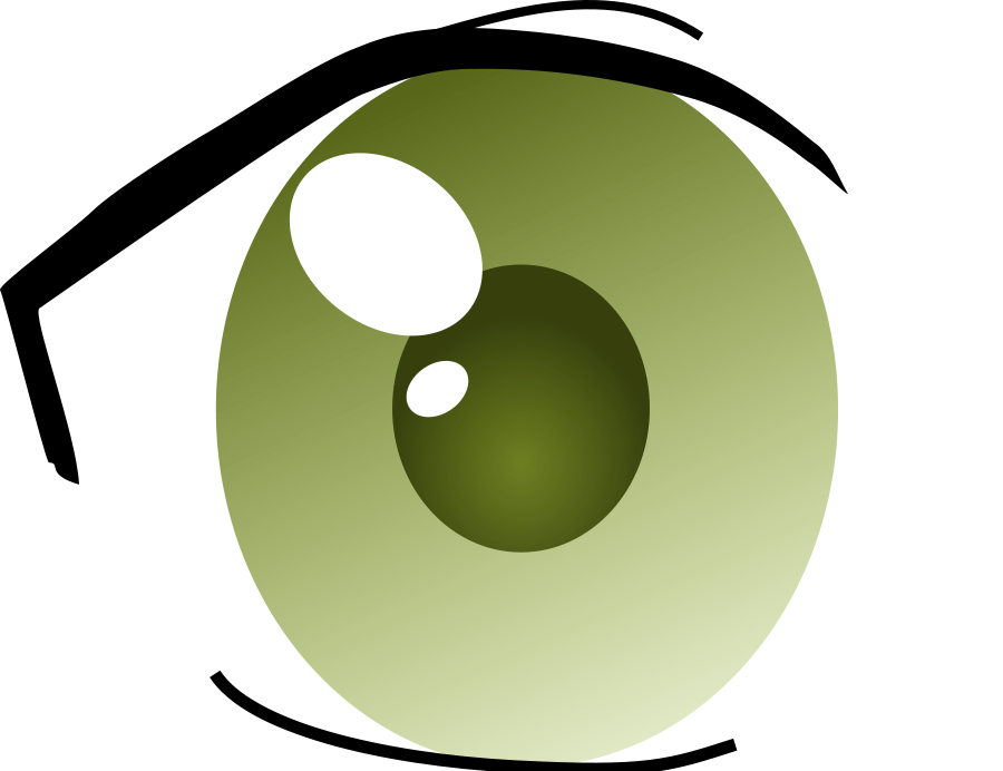 Manga eye right vector. Mango clipart jpeg