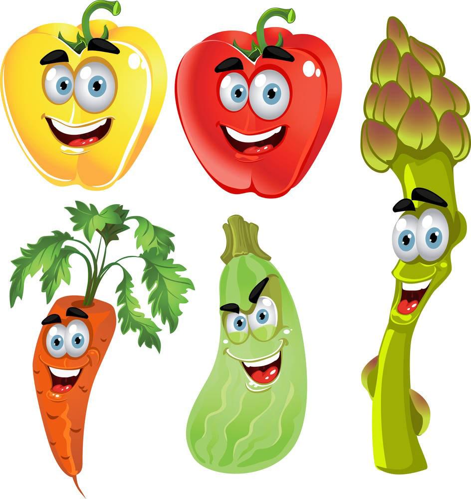 Vegetables clipart cartoon. Vegetable fruit clip art
