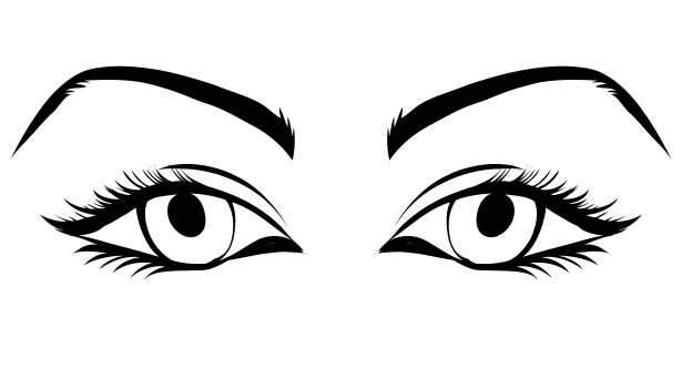 Eyes clipart lady. Of woman free stock