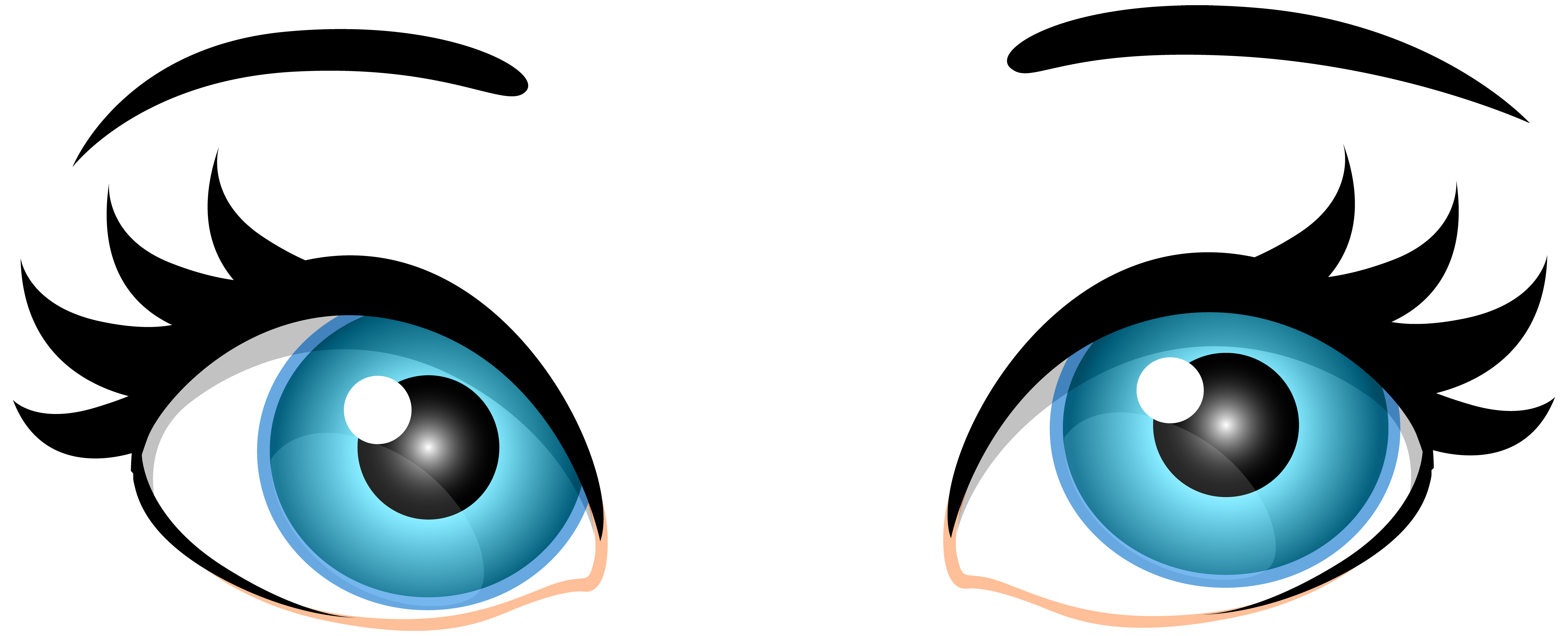 Clipart eyes. Blue female png clip